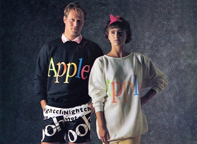 Línea de ropa de Apple en 1986