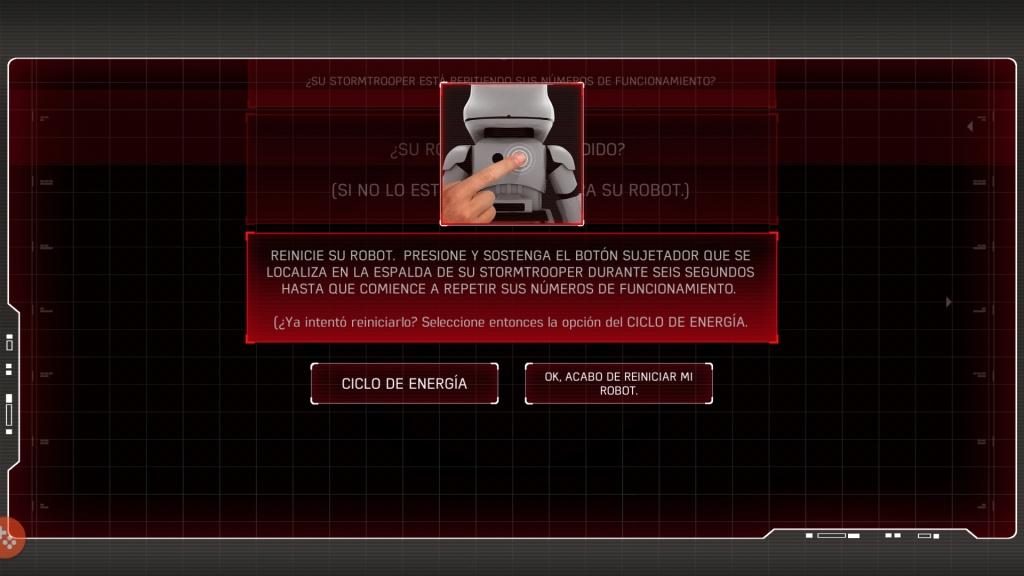 Reiniciar el robot